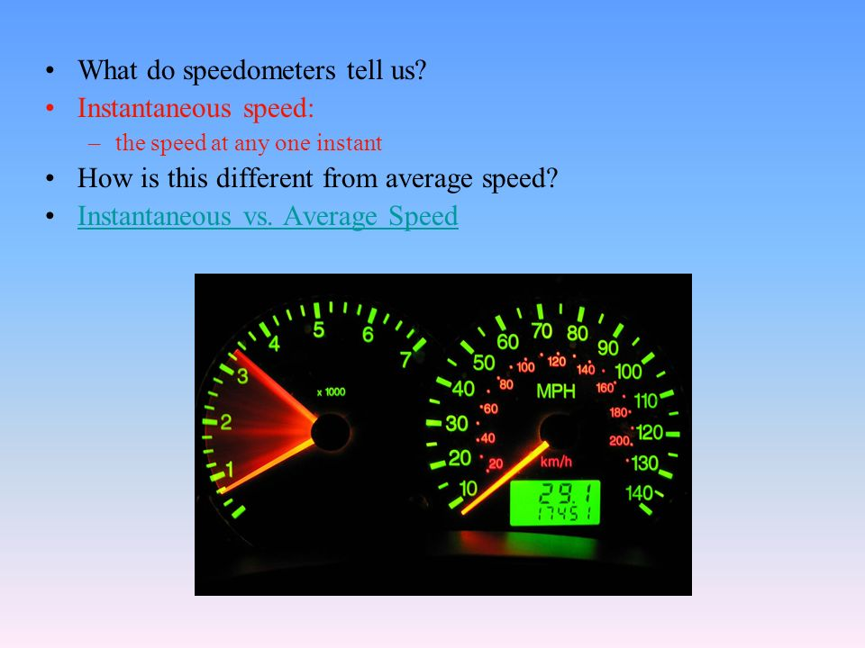 What do speedometers tell us.
