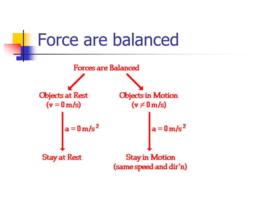 Force are balanced