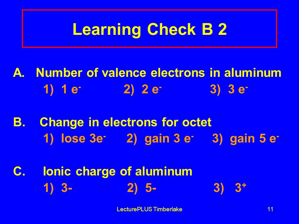 LecturePLUS Timberlake11 Learning Check B 2 A.