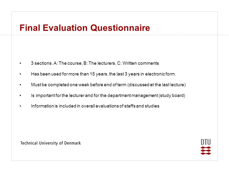 Evaluation Of Course Evaluations By Prof Peter FriisHansen