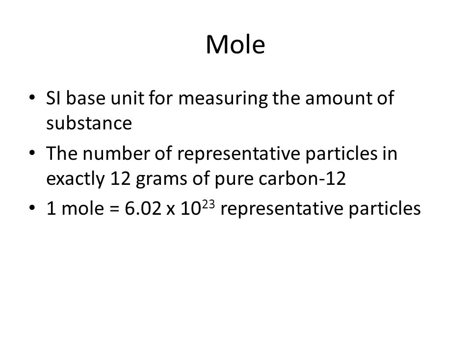 Unit 6 Moles Conversions Formulas Mole SI base unit for measuring – Mole to Mole Conversion Worksheet