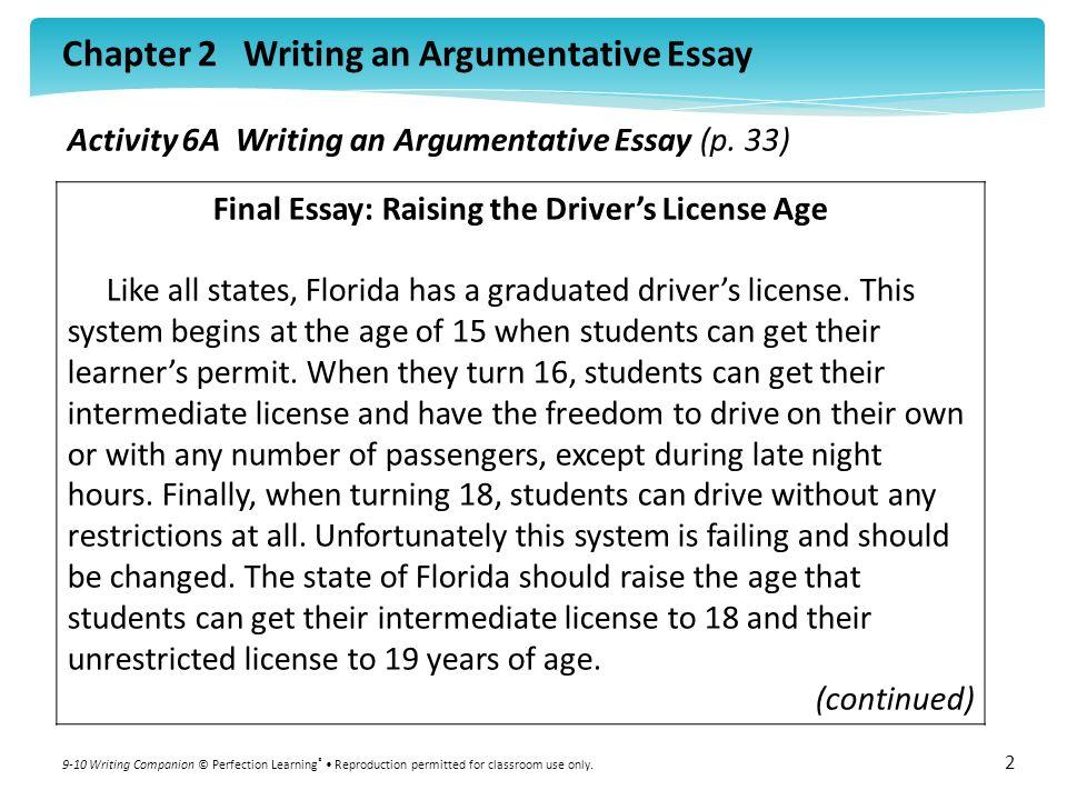 persuasive essays on raising the driving age