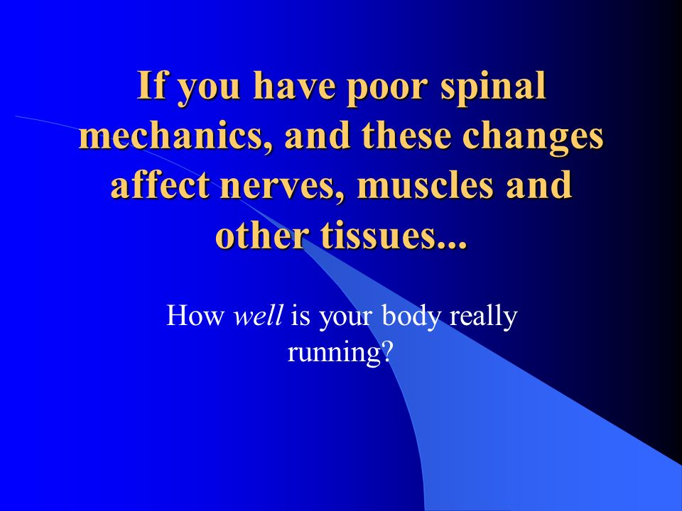 Chiropractic notes that the body is capable of healing and looks to the causes of a patient's symptoms...