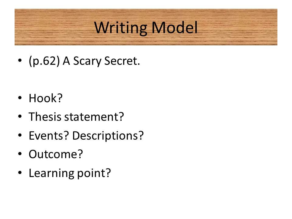 unit narrative essay review a narrative essay is a piece of   p 62 a scary secret hook thesis statement events