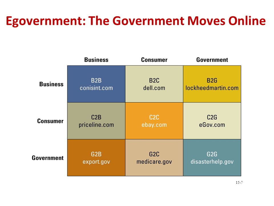 Egovernment: The Government Moves Online 15-7