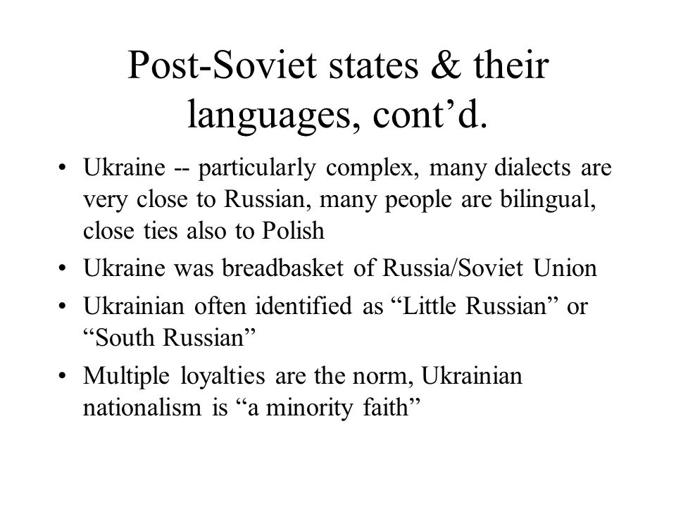 D Russian Dialects