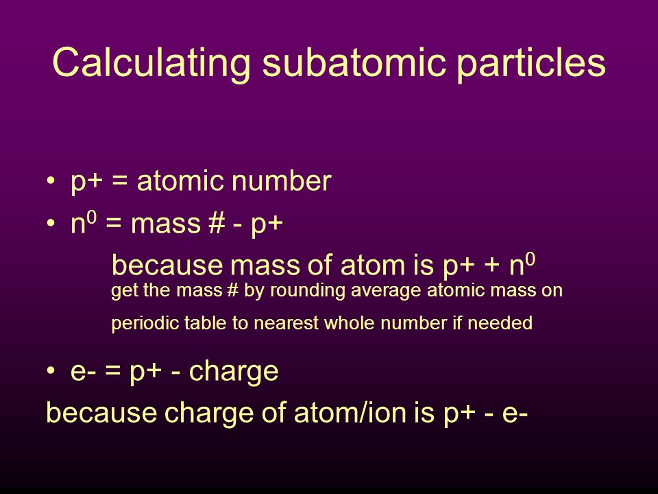 ATOMIC STRUCTURE the number of protons and neutrons in an atom the number of protons in an atom He 4 2 Atomic number Atomic mass number of electrons = number of protons