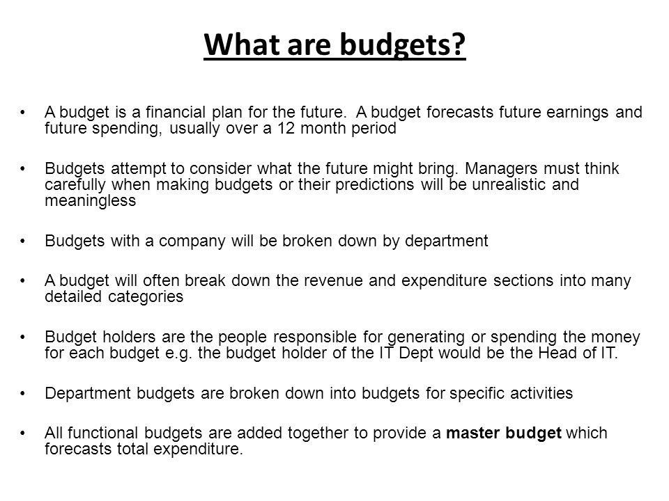 12 month budget plan