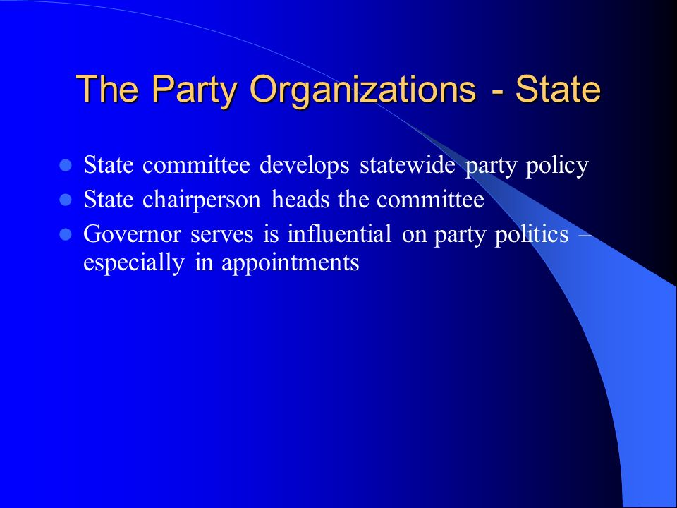 The Party Organizations - Local What is meant by the term grassroots .