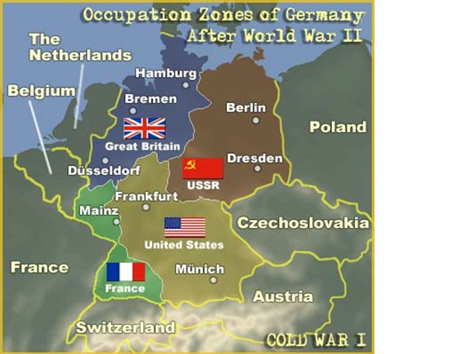 The Cold War From Stettin In The Baltic To Trieste In The Adriatic - Germany map post ww2