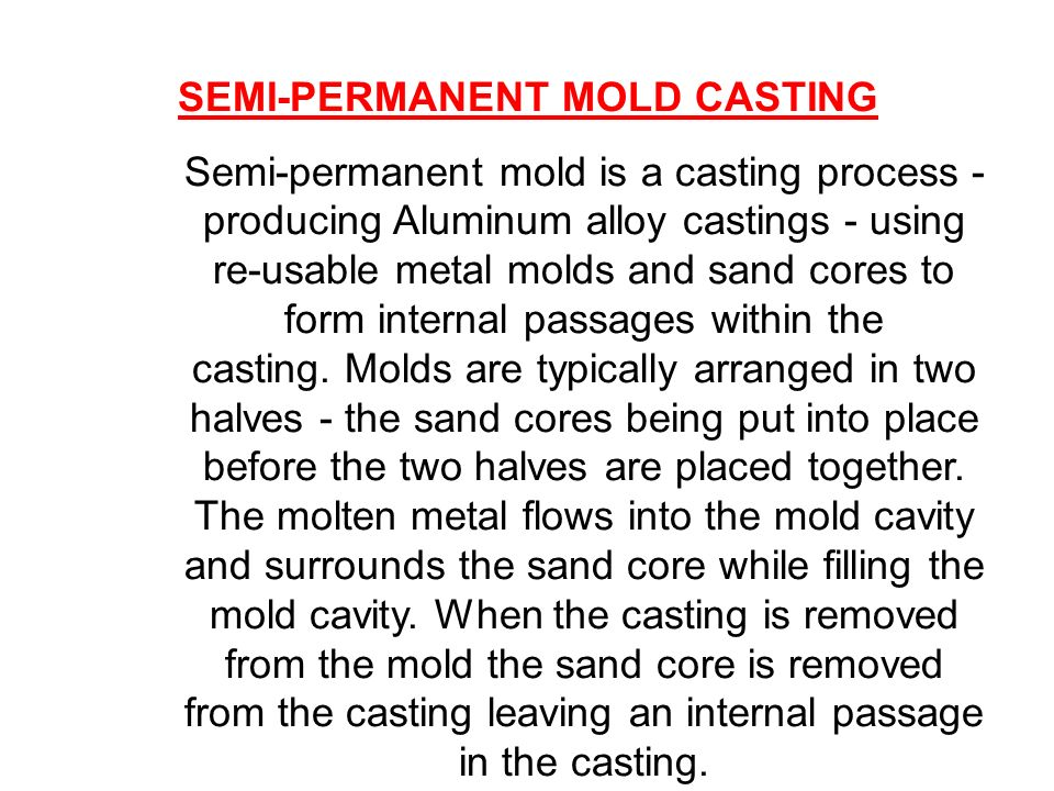 Where can I find the history of permanent mold casting?