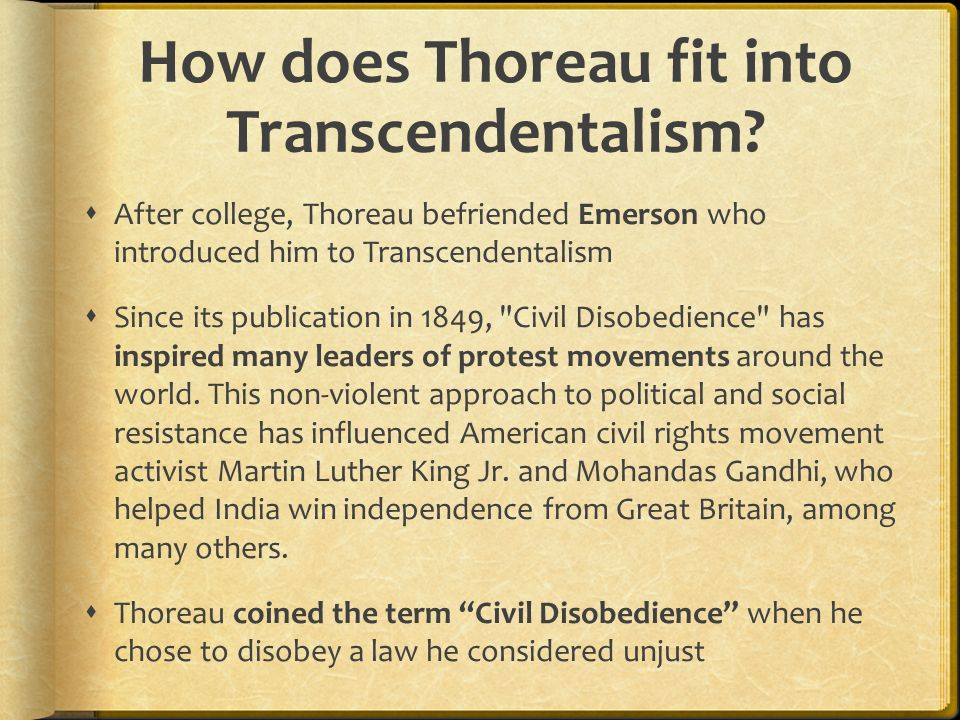 transcendentalism emerson and thoreau essay