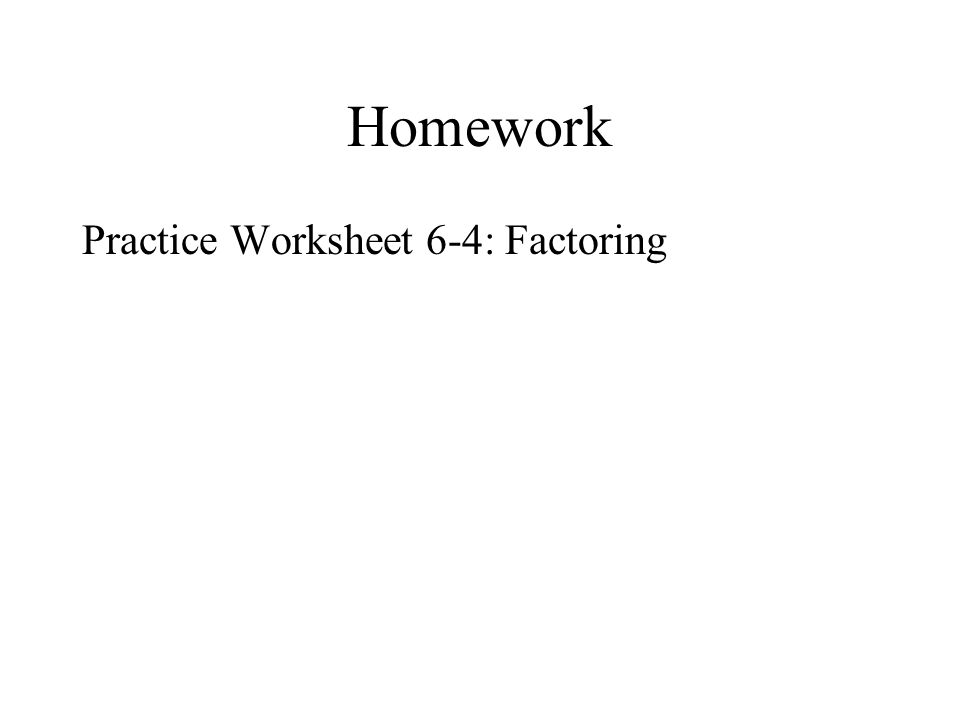 Worksheets Factoring Greatest Common Factor Worksheet section 5 4a factoring gcf and binomials number of terms any homework practice worksheet 6 4 factoring