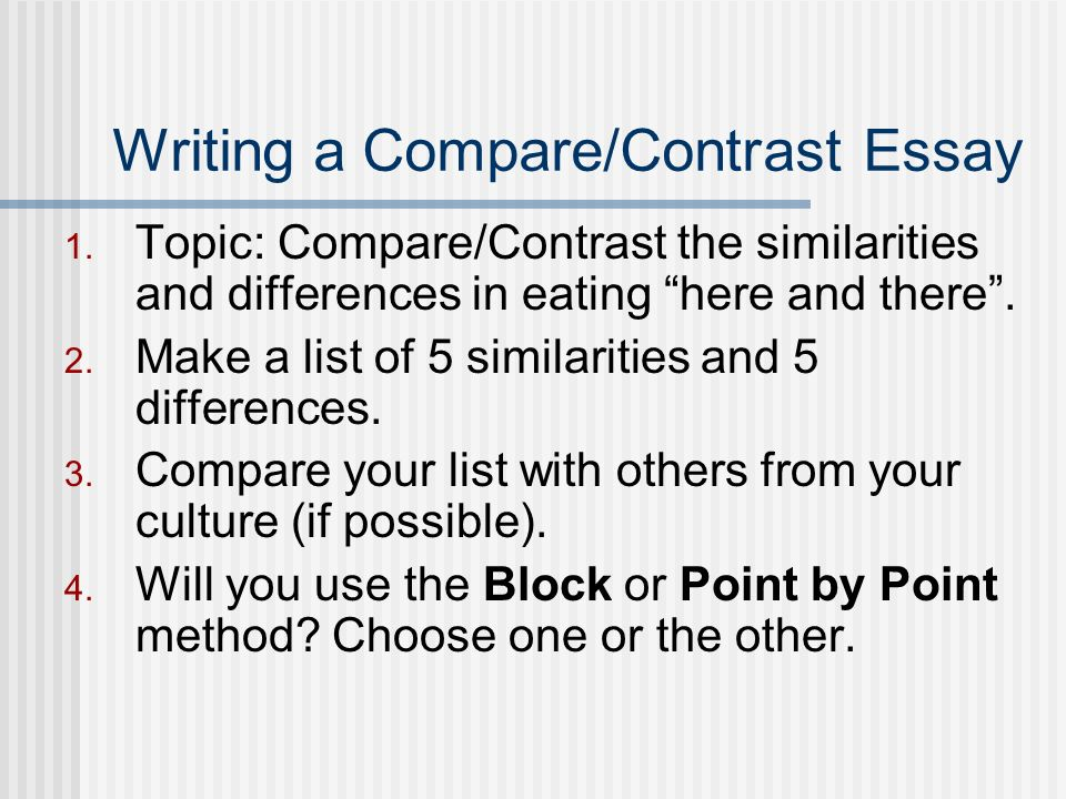 compare contrast essays norm johnson spring ppt  13 writing a compare contrast