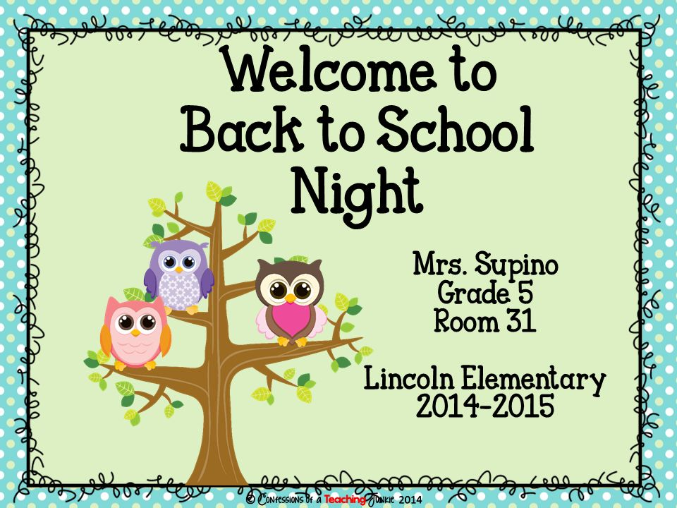 Mrs. Supino Grade 5 Room 31 Lincoln Elementary Welcome to Back to School Night