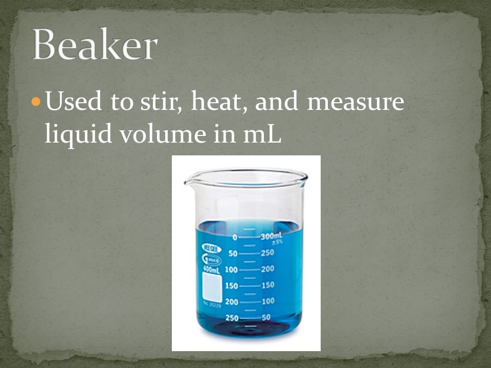Used to stir, heat, and measure liquid volume in mL