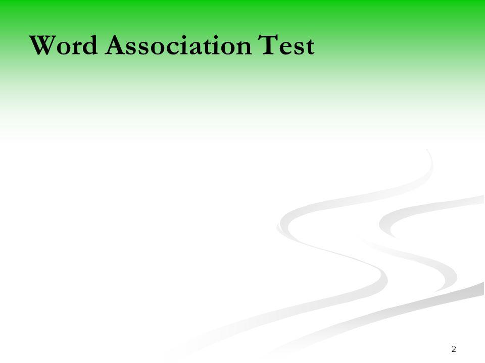 2 Word Association Test