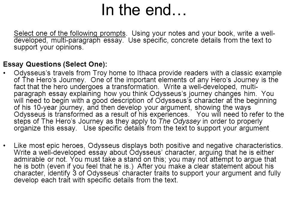odysseus admirable character essay