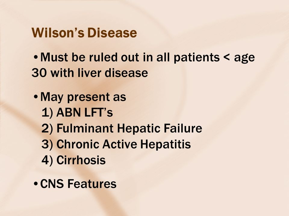 the characteristics and symptoms of wilsons disease a genetic disorder Wilson's disease – a genetic disorder caused by a buildup of copper in the body – affects around 1 in 30,000 people in the united states, making it a very rare condition.