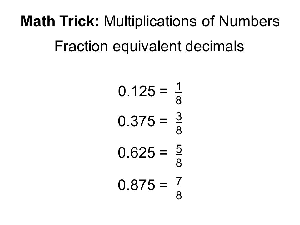 We Note That Math Trick Multiplications Of Numbers