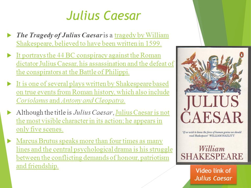 "caesar essay conclusion Lesson : 1 essay julius caesar - william shakespeare introduction ""julius caesar "" is one of the best known plays of shakespeare  conclusion : the talk of."