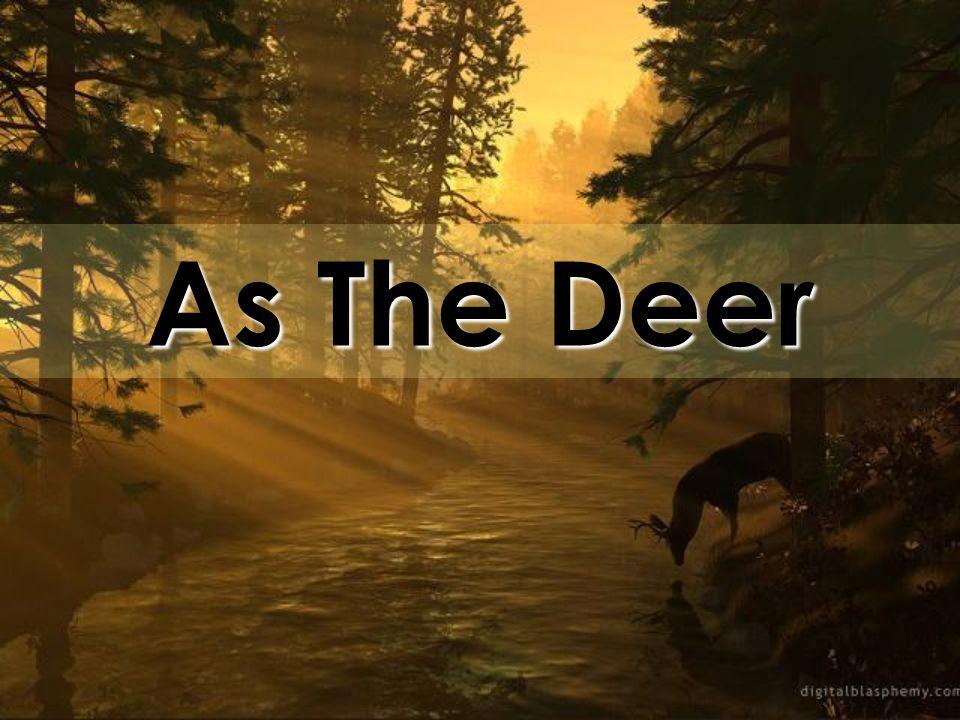 As The Deer. As the deer panteth for the water So my soul longeth ...