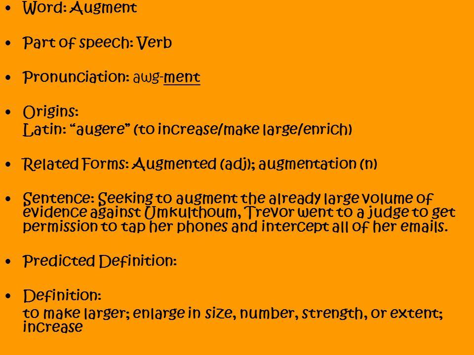 augment definition