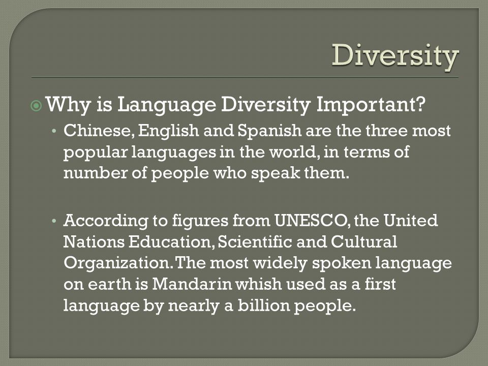 Social Why Is Language Diversity Important Chinese English - Most popular language in world after english