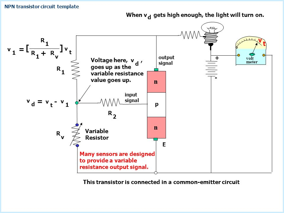 Transistor Circuit Templates This presentation is partially animated ...
