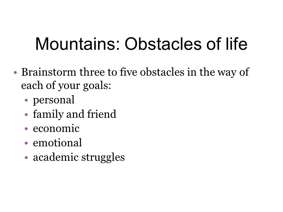 essays on obstacles