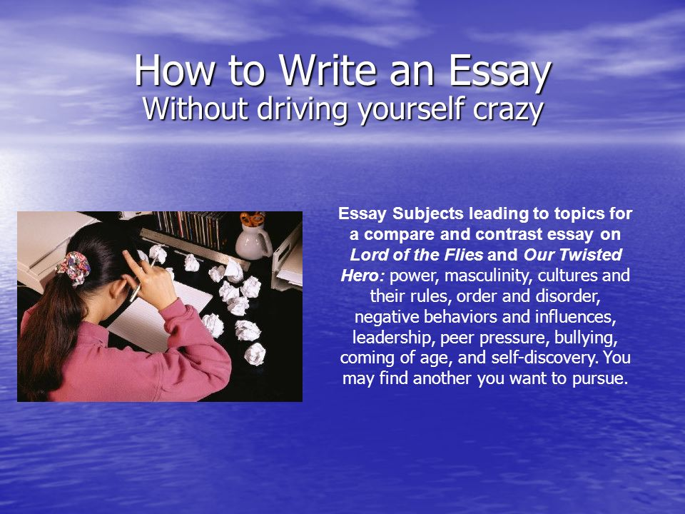how to write an essay about your self Edit article how to write an essay six parts: writing your essay revising your essay writing a persuasive essay writing an expository essay write a narrative essay essay help community q&a throughout your academic career, you will often be asked to write essays you may have to work on an assigned essay for class, enter an essay contest or write.