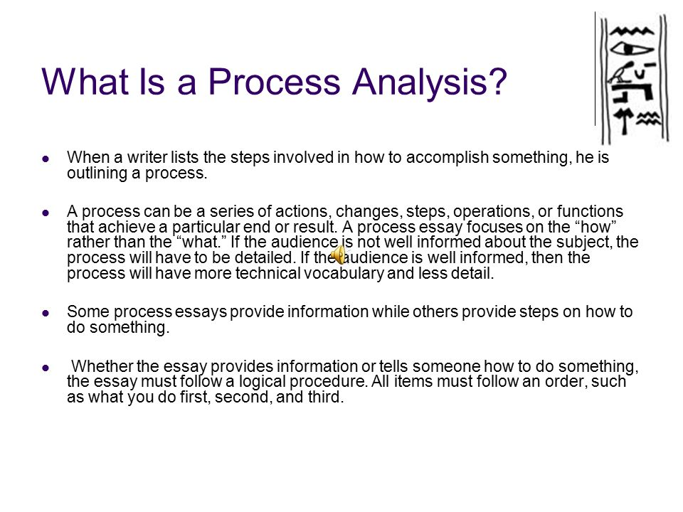 Help on a Process Essay?!?