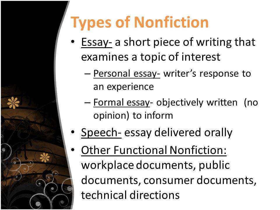 Good topics for a non-fiction essay?