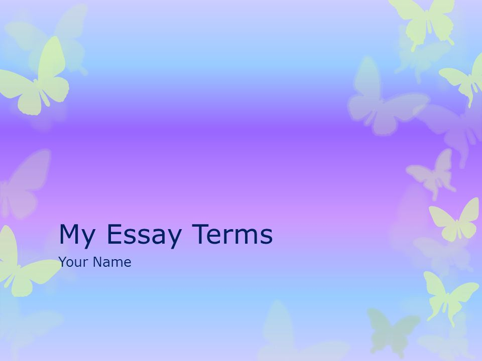 What should I name my Essay?