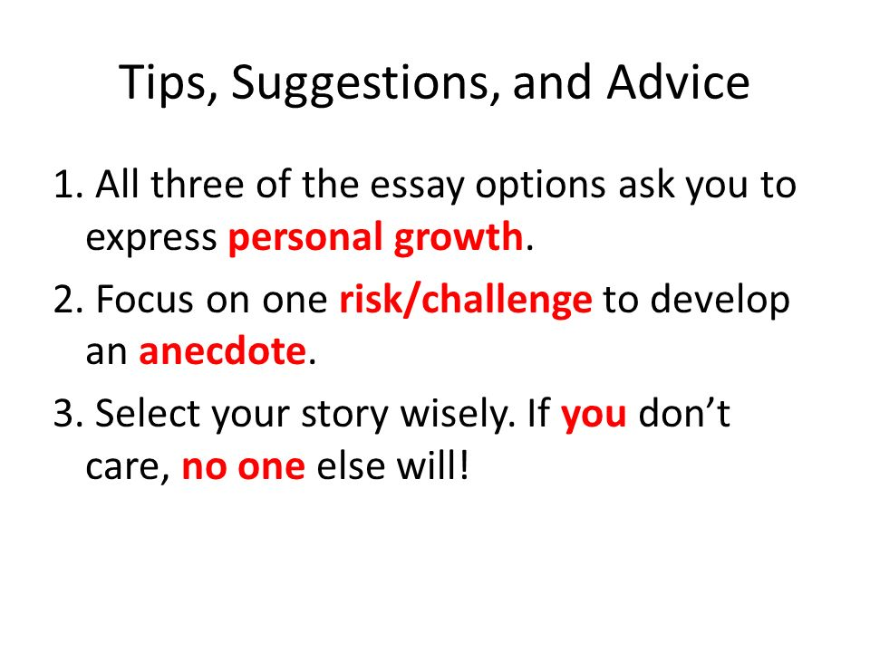 how to write a personal growth essay The most successful essays describe a moment of personal growth, difficulty, strength, or confidence, all of which people experience in vastly different ways if you are serious about your college essay, you will most likely be spending a fair amount of time brainstorming, writing, and editing until you make it as near perfect as possible.