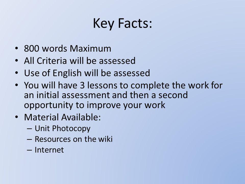 essay key words describe