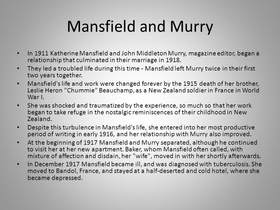 katherine mansfields her first ball essay