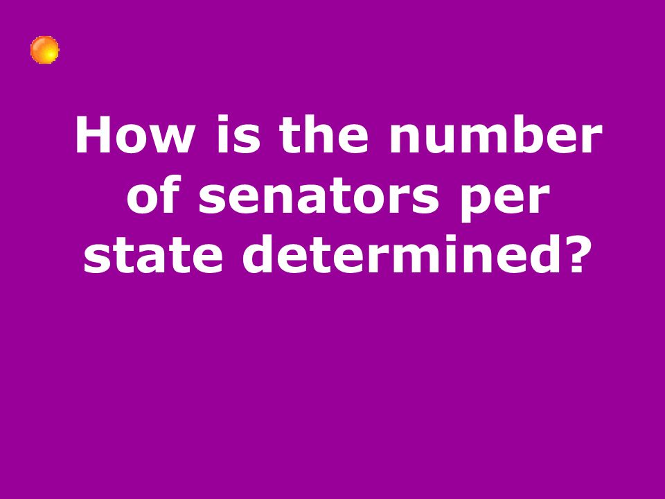 How is the number of senators per state determined
