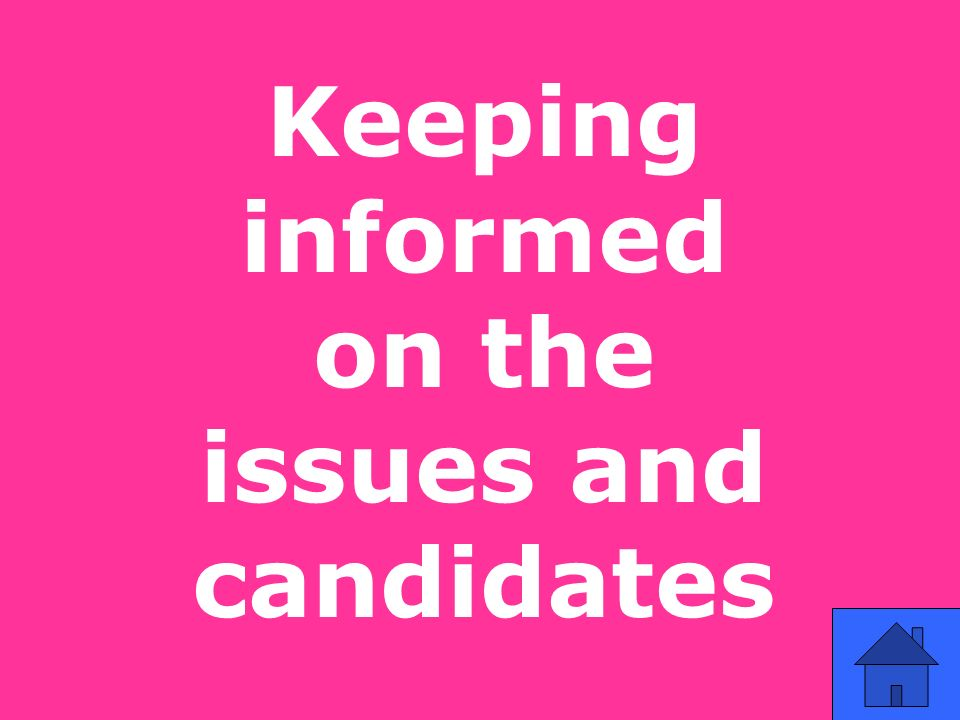 Keeping informed on the issues and candidates