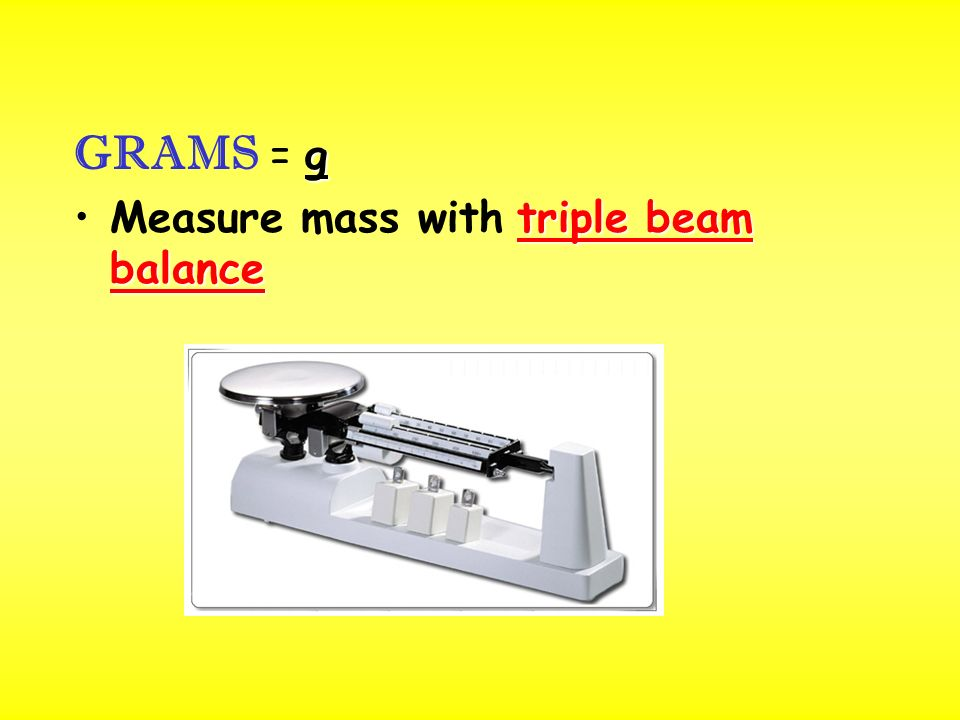 triple beam balanceMeasure mass with triple beam balance