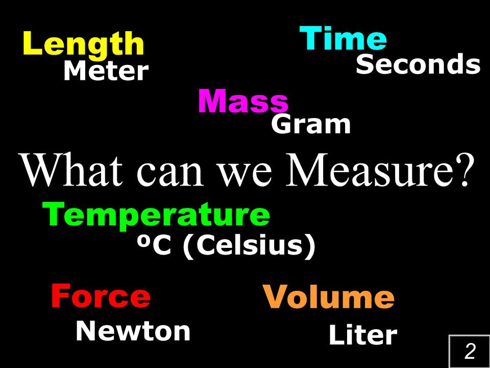 1 Measurement The Act of Measuring & The Metric System Dimensions, quantity, or capacity as ascertained by comparison with a standard
