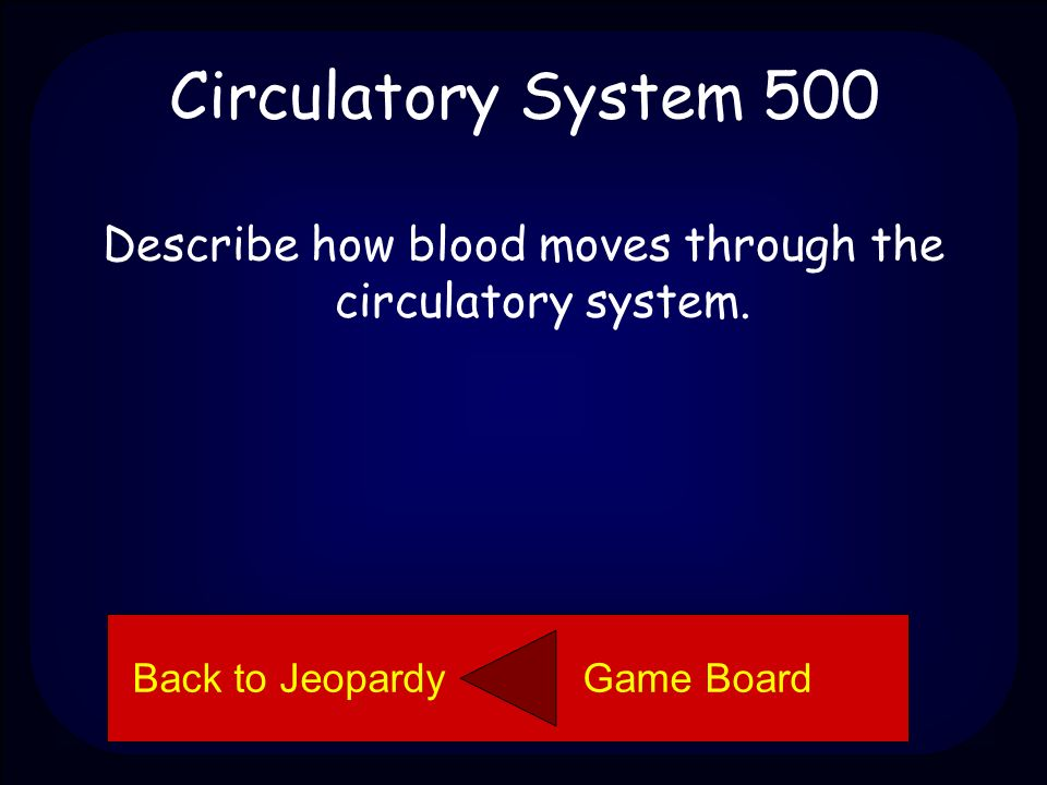 Circulatory System 400 Red blood cells are the part of the blood that carries the oxygen to the cells of the body.