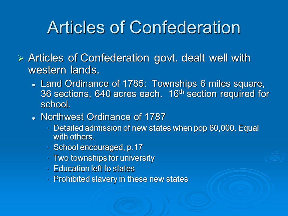 Articles of Confederation  Articles of Confederation govt.