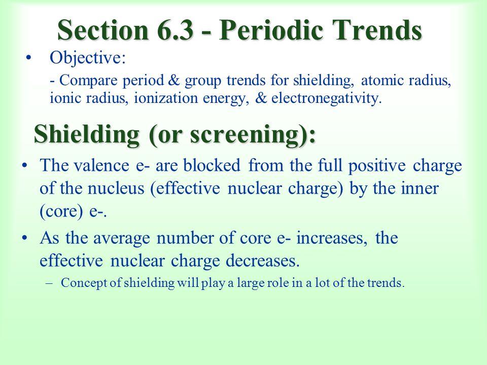 Section periodic trends objective compare period group trends section 63 periodic trends objective compare period group trends for shielding atomic radius ionic radius ionization energy electronegativity urtaz Choice Image