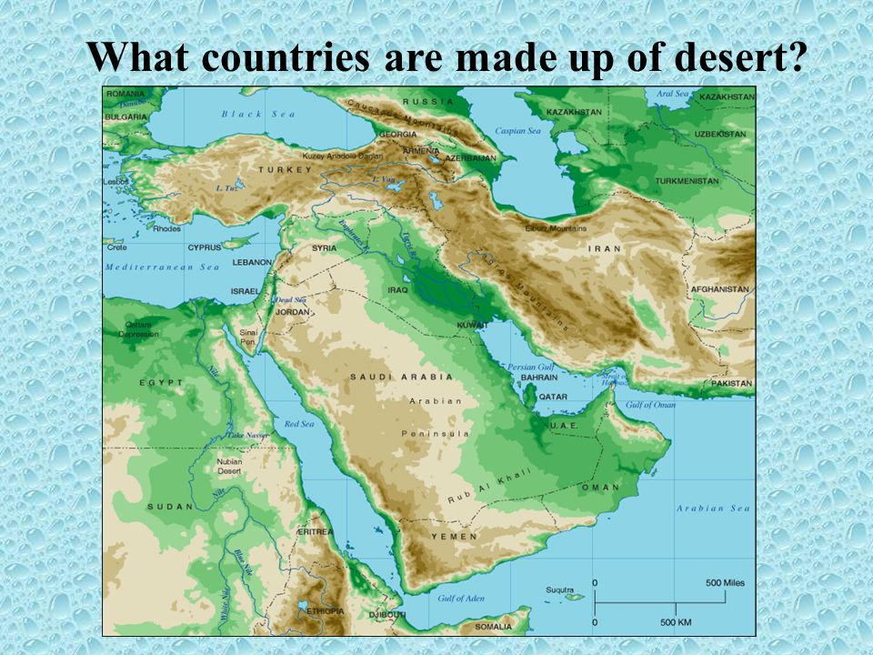 Middle East Water Crisis What countries are made up of desert