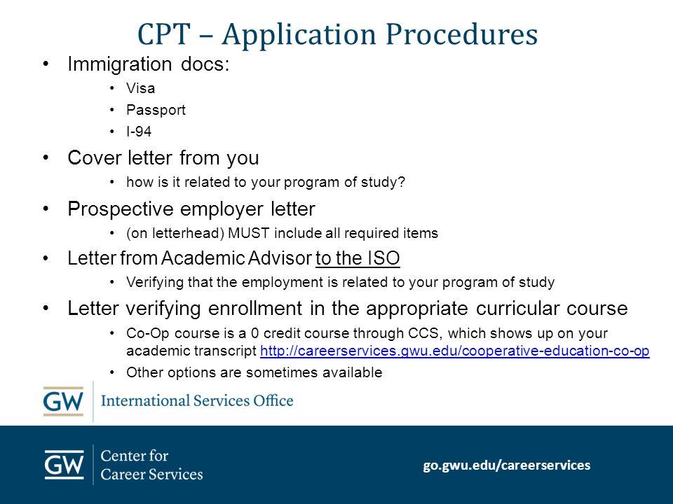Gogwueducareerservices Curricular Practical Training CPT