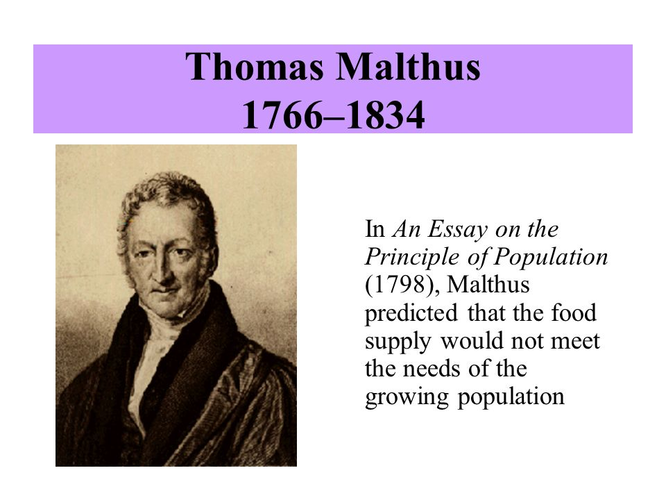 thomas malthus first essay on population