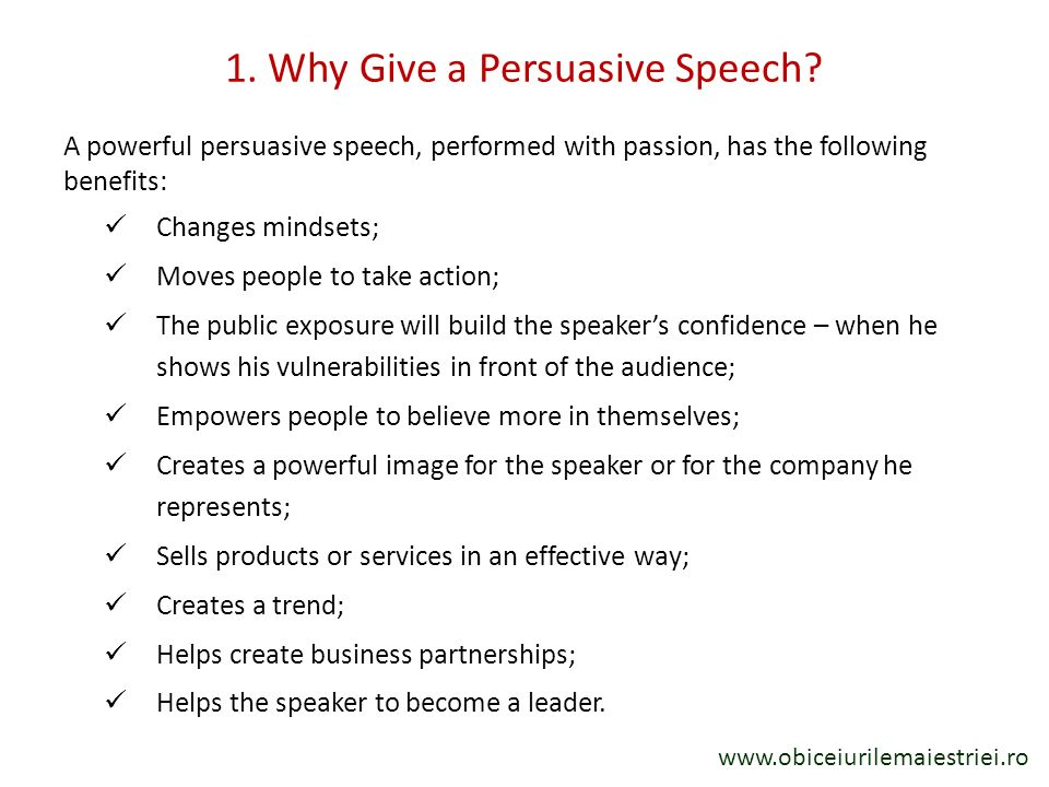 By Drago Stoian How To Build A Powerful Persuasive Speech  Ppt