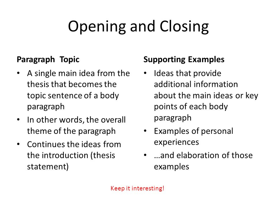 closed and open thesis statements This handout describes what a thesis statement is, how thesis statements work in your writing, and how you can discover or refine one for your draft.
