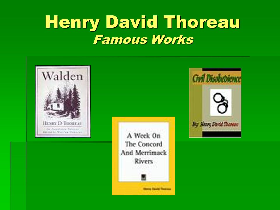 Henry David Thoreau Famous Works